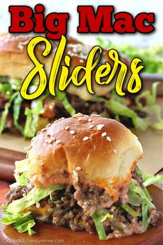Big Mac Sliders taste just like their namesake burger. If you want a copycat version, only in slider form, you've come to the right place.#sliders #appetizers #groundbeefappetizers #easyappetizers #bigmacsliders #copycatrecipe #tailgatingrecipe #bigmac #kudoskitchenrecipes Beef Appetizers, Thanksgiving Appetizers, Easy Appetizer Recipes, Holiday Appetizers, Party Appetizers, Vegetable Recipes, Beef Recipes, Drink Recipes, Snack Recipes