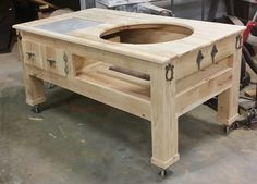 Big Green Egg Tables | The Tables   Wood By Dana