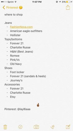 where to shop for certain clothing items. where to shop for jeans tops shoes Baddie Outfits Clothing Items jeans shoes shop tops