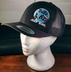 more photos e9099 ff55e Bella Jeep Girl Trucker Style Cap Hat Black Embroidered Mesh Snapback OSFA   ClassicsifYupoong  BaseballCap