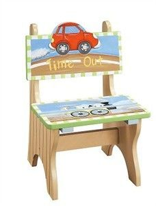 Looking for a timeout/thinking chair that would go great with your child's room or interest? This transportation timeout chair may be exactly what you are looking for. e.g $49.95 http://www.sensoryedge.com/transportation-time-out-chair.html