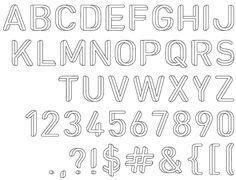 Optical illusion font