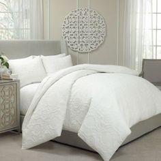 White Textured Duvet Cover