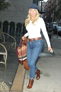 How does she do it? Christie Brinkley, 62, defied her age as she stepped out looking impossibly youthful in the Soho neighborhood of Manhattan on Monday
