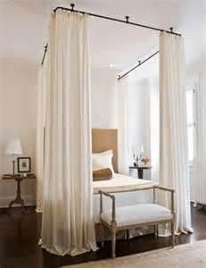 curtain rods for canopy bed