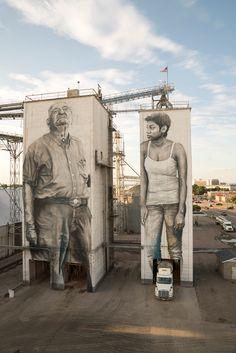 Großartig - Fort Smith, Arkansas - Street art, sculptures, art etc - Murals Street Art, Street Art Banksy, 3d Street Art, Art Mural, Mural Painting, Street Artists, Paintings, Fort Smith Arkansas, Arkansas Usa