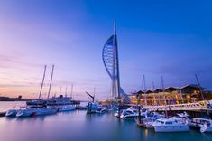 Ships, spinnakers and salty sea dogs in Portsmouth, our stylish city on the Solent. Portsmouth City, Naval History, Hampshire England, Ways Of Seeing, Architectural Features, Places Of Interest, City Break, San Francisco Skyline, Paris Skyline