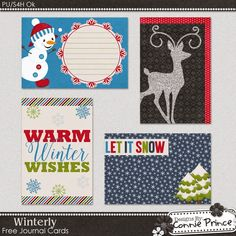 Connie Prince Digital Scrapbooking News: Day #3 of 12 Days Of Christmas, Free Journal Cards, & Last Week's Show Off Winner!