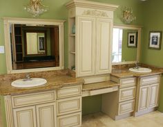Custom Bath Cabinets By Kent Moore Cabinets. Rustic Cherry Wood With Hearty  Rye Stain With Ebony Glaze Finish | Monticello Project | Pinterest |  Cherries, ...