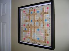 Our Hobby House: Scrabble Wall Art