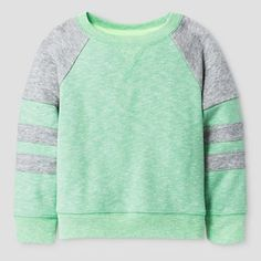 Baby Sweatshirt Cat & Jack - Heather Island Green Infant, Size: 18 M Boys Summer Outfits, Toddler Boy Outfits, Baby Boy Outfits, Toddler Boys, Kids Outfits, Baby Boys, Toddler Chores, Toddler Sewing Patterns, Sewing Kids Clothes