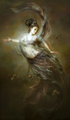 Oil-painting-font-b-Beauty-b-font-font-b-fairy-b-font-flying-from-heavenly-palace.jpg (386×665)