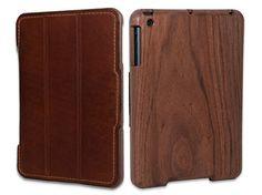 Wood and leather iPad Mini case from  TreeShell - sleek!