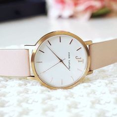 The Noosa. Blush and Rose Gold. Bestselling watch style. Australian watch brand. Minimal watches. Women's watches.