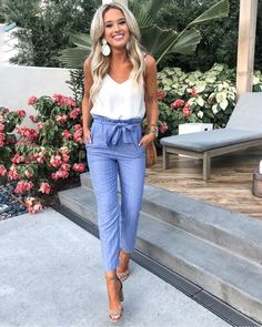 37 Look Good Casual Chic Outfits – Casual Outfit – Casual Summer Outfits Casual Chic Outfits, Outfit Chic, Classy Casual, Classy Dress, Summer Business Casual Outfits, Casual Chic Summer, Professional Summer Outfits, Classy Chic, Casual Lunch Outfit
