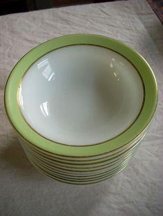 Vintage lime Pyrex plates