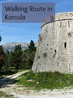 Enjoy beautiful views of Korcula during this walking route above the town. #korcula