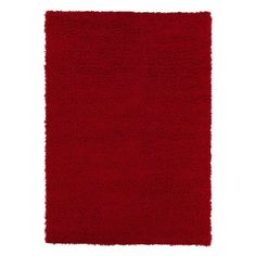 Cozy Shag Collection Red 7 ft. 10 in. x 9 ft. 10 in. Indoor Area Rug