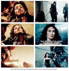 Athos/Milady, 'You know there can be no peace for either of us until we are both dead.'