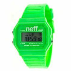 Neff Men's NF0204-green Old School Digital Design Soft PU Strap Watch NEFF. $17.00. Green. Custom neff design. Digital. Unisex. Water-resistant to 50 M (165 feet). Save 15%!