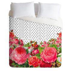 allyson-johnson-bold-floral-and-dots-duvet-cover-sample-sale-denydesigns.com