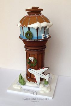 Edible Art. gingerbread house cookie house air traffic control tower
