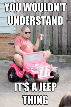 OMG, I have pictures of Alan doing this exact same thing in the Barbie Power Wheels that Lyndsy would NEVER ride in!