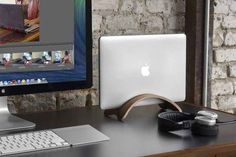 Twelve South Bookarc Mod – Vertical Stand For Macbook, Walnut | Some Of The Best Office Gadgets