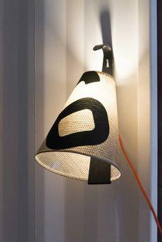 Lampe baladeuse d'intérieur en voile recyclée et aluminium thermoloqué