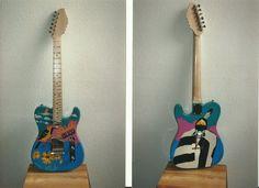 Painted Guitar   Artist Louis DeMayo