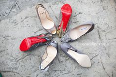 wedding shoes - two pairs of Louboutins and a pair Manolos (this was just for the bride!)