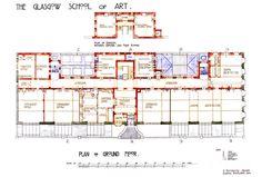 Ground Floor - Glasgow School of Art (1897-1909) | Charles Rennie Mackintosh