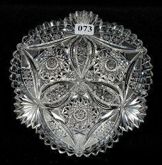 """WC Anderson, Circles & Arcs, American brilliant cut glass, 7"""", 15-7h."""