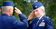Jeannie Leavitt -- the first female fighter pilot in the air force becomes their first female wing commander