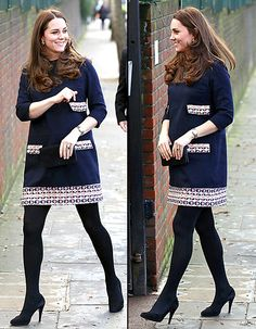 Kate Middleton's Growing Baby Bump Shows in Printed Shift Dress: Photo - Us Weekly