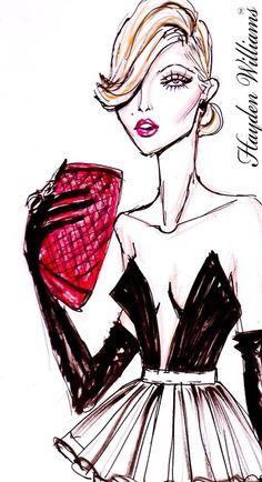 'rouge noir' . haydenwilliamsillustrations.tumblr.com