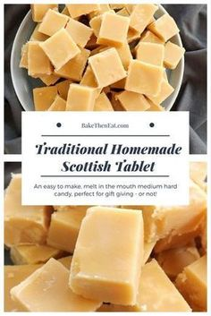 Scottish tablet Scottish tablet - it's not fudge and its certainly not toffee.- Scottish tablet Scottish tablet – it's not fudge and its certainly not toffee…. Scottish tablet Scottish tablet – it's not fudge and… - Scottish Tablet Recipes, Irish Recipes, Sweet Recipes, Hard Candy Recipes, Fudge Recipes, Baking Recipes, Dessert Recipes, Simply Yummy, Cookies Et Biscuits