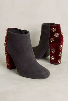 Farylrobin Jeweled Teigan Booties Grey Boots #anthrofave
