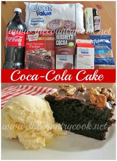 The Country Cook: Coca-Cola Cake. Interesting... I wonder how this will taste