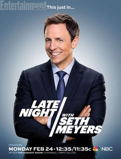 It's here! Entertainment Weekly has your first look at Late Night with Seth Meyers.