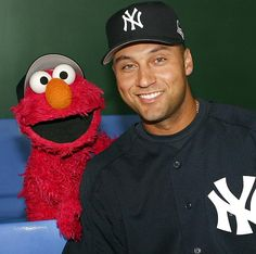 Two cuties, Jeter and Elmo