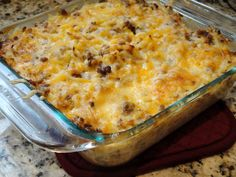 Make ahead breakfast casserole I've made this twice!  Can definitely half the recipe and have enough for one 9.5x11 casserole. Yum!