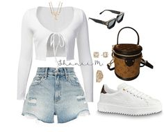 Swag Outfits For Girls, Teenage Girl Outfits, Cute Swag Outfits, Crop Top Outfits, Retro Outfits, Trendy Outfits, Baddie Outfits Casual, Kpop Fashion Outfits, Girls Fashion Clothes
