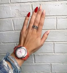 Cute Nails, Pretty Nails, Cute Simple Nails, Hair And Nails, My Nails, Nail Polish, Nail Nail, Minimalist Nails, Nagel Gel