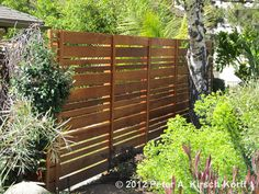 Urban Style Garden Wood Fence - high for privacy