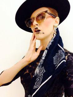 Iulia Albu | smudge lip Smudging, Round Sunglasses, Rocks, Lips, Shades, Inspirational, Couture, Creative, Fashion