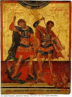 Greek Mythology Art, Roman Mythology, Russian Ark, Archangel Raphael, Russian Icons, Byzantine Icons, Religious Icons, Orthodox Icons, Saint George