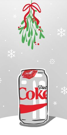 Mistletoe is the perfect holiday season excuse to kiss your one true love. | Diet Coke