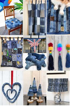 Upcycling fabrics for the home is environmentally friendly, affordable and adds an element of personalization. You can use denim, sweaters, cottons and leather.