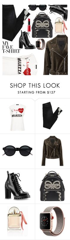 """Untitled #1008"" by m-jelic ❤ liked on Polyvore featuring Dolce&Gabbana, Paige Denim, Fendi, Chloé, Apple, Giorgio Armani and MyFaveTshirt"